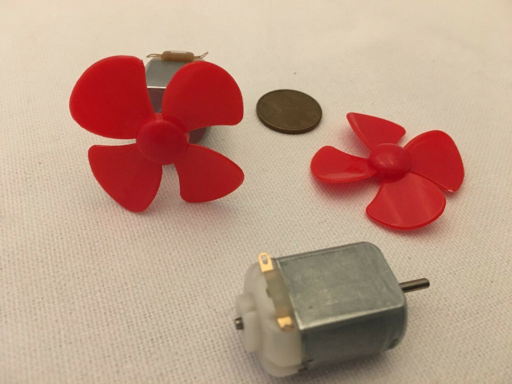 2 Sets 130 RED Motor DC Propeller Solar 3V to 6V prop boat plane diy 40mm B10