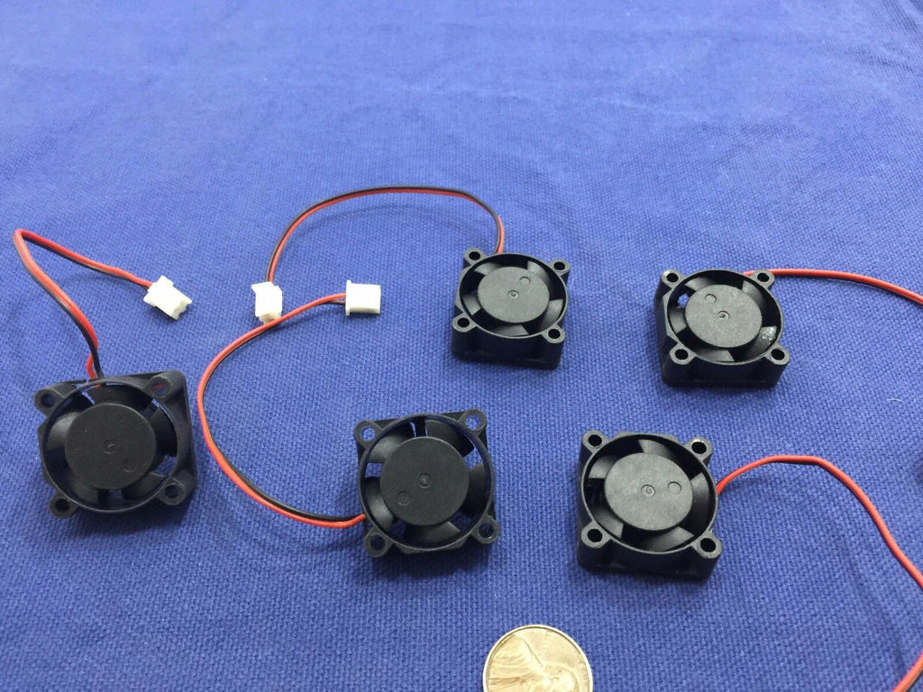 5 Pieces BXR 25mm x 25 x 10 Brushless Cooling Fan small micro Flow CFM 12V c11