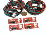 4 Pieces Endstop 3d printer flashforge cnc RAMPS 1.4 Micro Limit Switch Lever A6