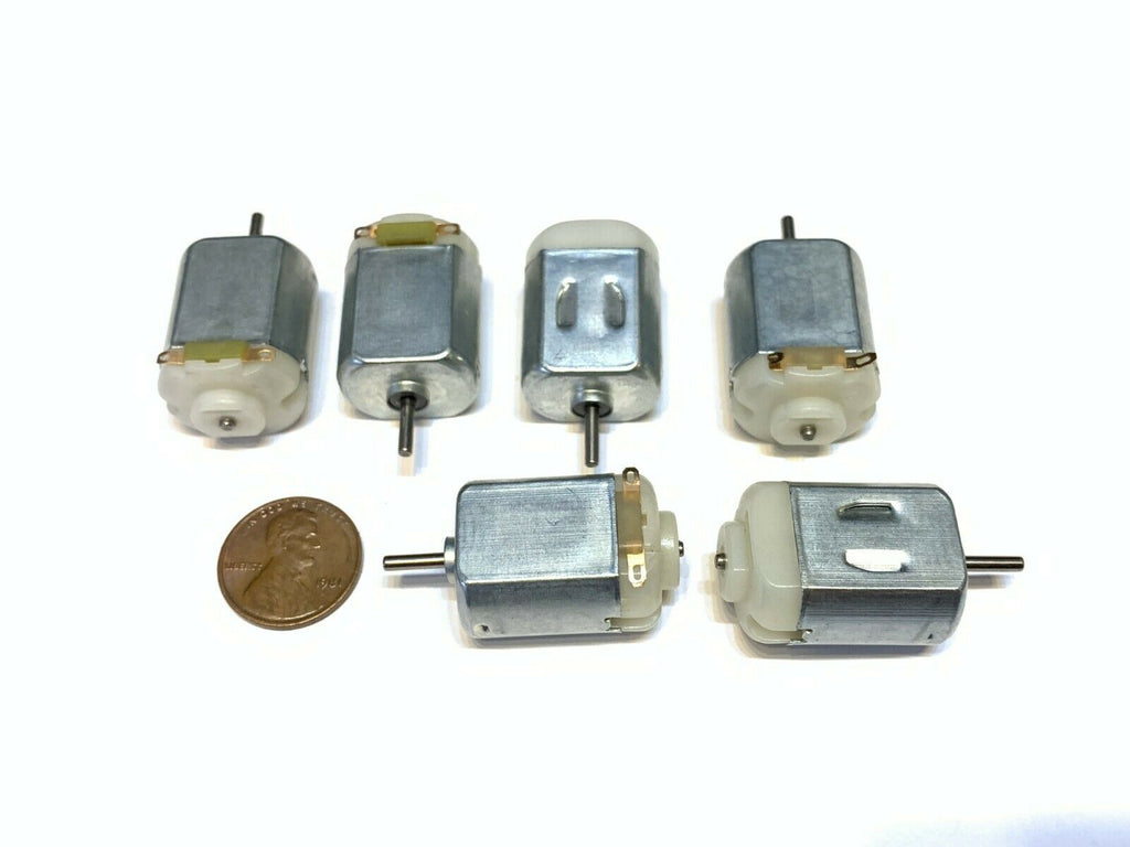 6 Pieces DC motor 130 digital wheel tire small diy 5v 6v 3v mini k square car b6