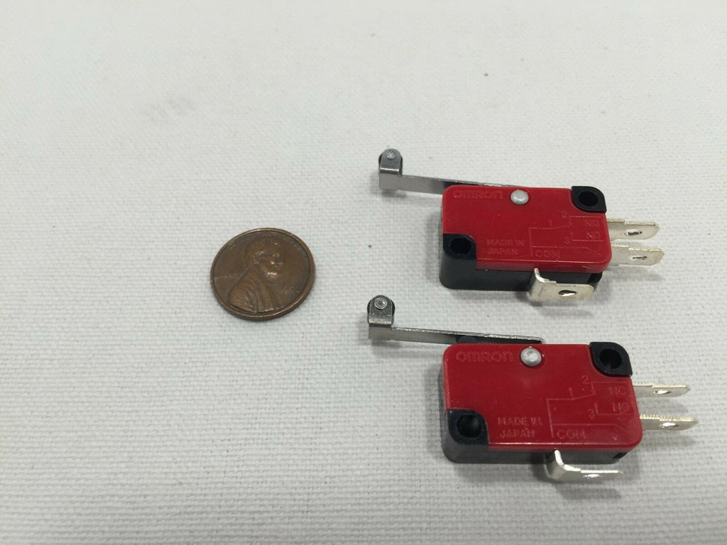 2 pieces 2x 2pcs Roller Lever Arm Micro Switches AC dc 12 250V HV-156-1C25 b4