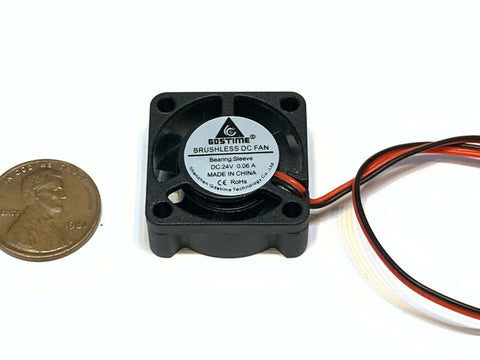 1 Piece 24v fan 2510 quiet 3d printer cnc computer cooling 25mm 2pin small B18