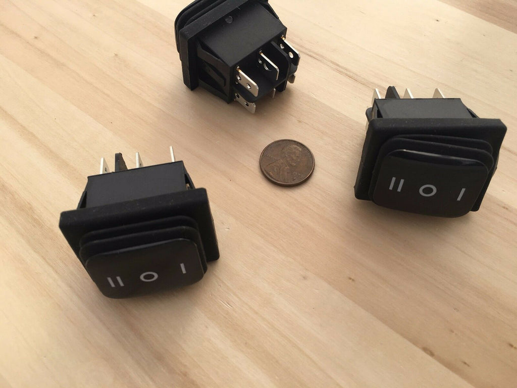 3 Pieces Waterproof 20 Amp On/Off/On Rocker Switch 6 Pin 12v DPDT C36
