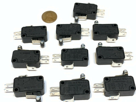 10 Pieces Black Limit Switch rollar roller micro small 3d printer cnc Lever c19