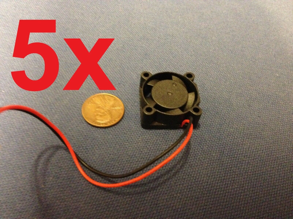 5 Pieces 2510S 5V Cooler Brushless DC Fan 25  10mm Mini Cooling Radiator E0Xc b9