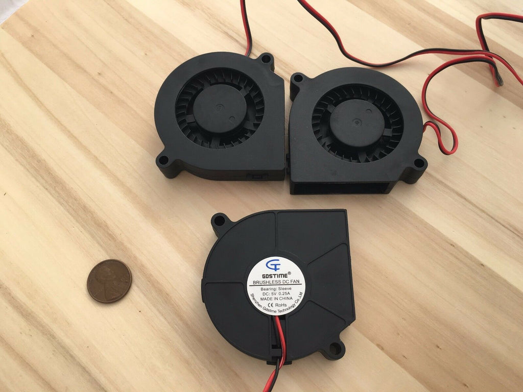 3 Pieces 60mm 5v fan Brushless Exhaust Centrifugal Blower Computer Gdstime C28