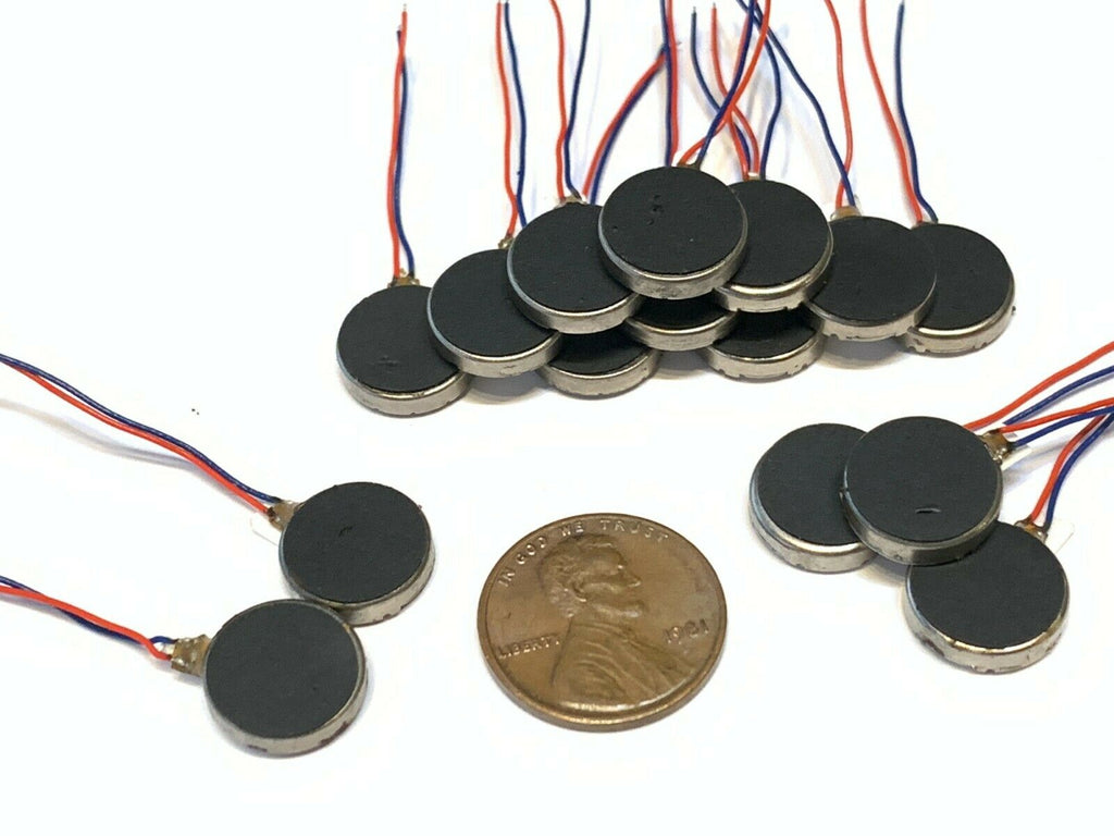 15 Pieces Vibration coin Vibrating motor flat micro rpm dc 12mm x 3mm small B14