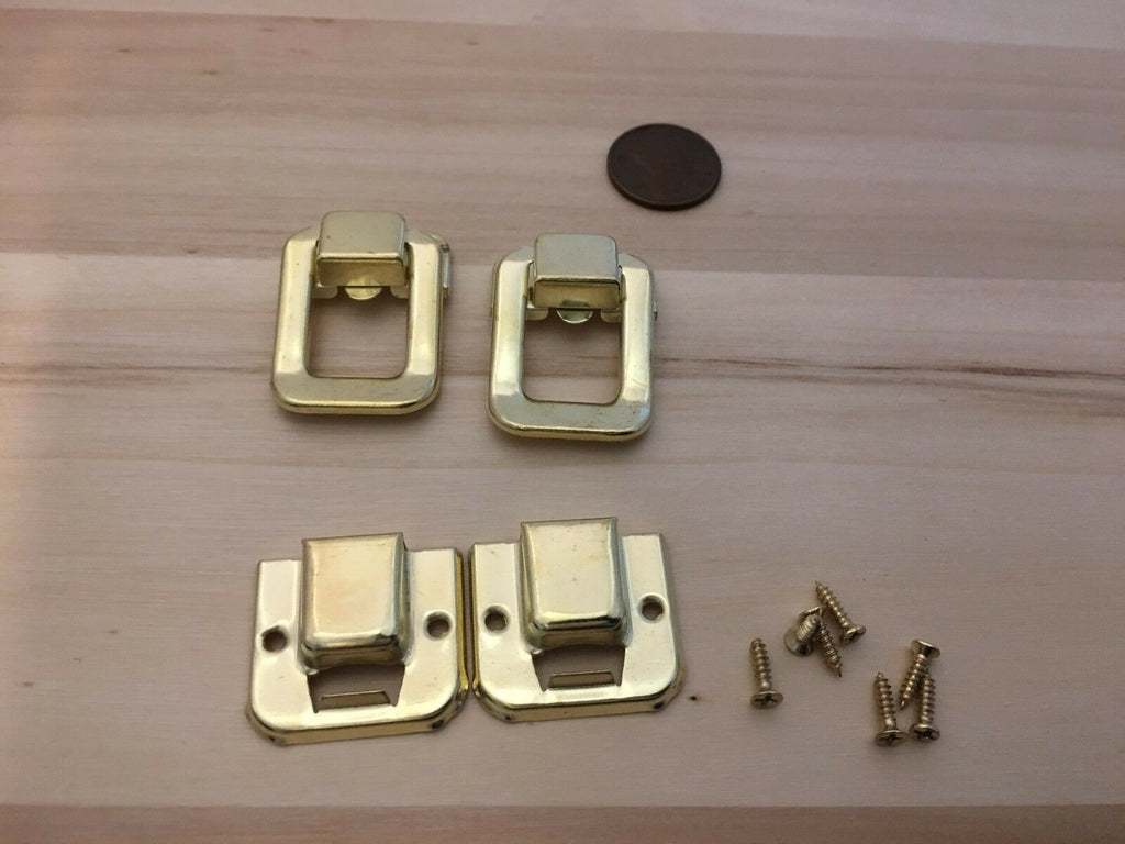 2 Pieces - Gold style hasp small box hardware lock latch latches catches C23