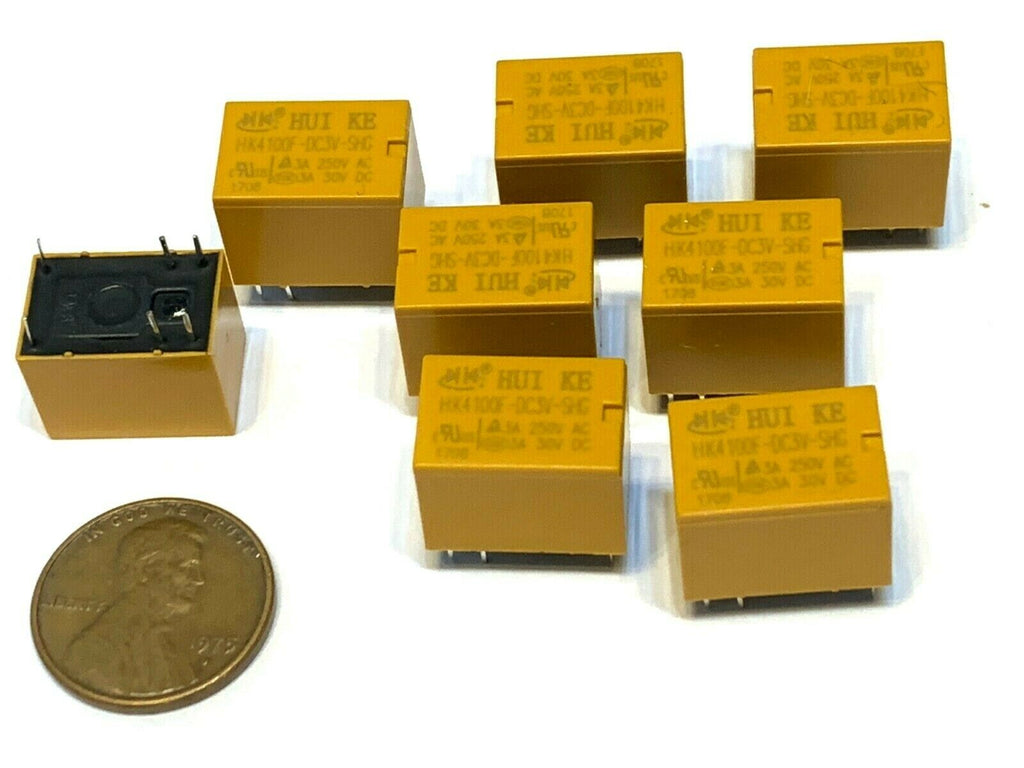 8 Pieces yellow HK4100F-DC3V-SHG  3A 6pin 250VAC 3v small Relays  A20