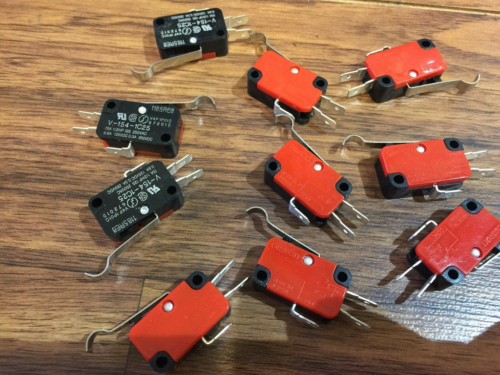10 Pieces   Micro Limit Switch with Lever 15A 125/250VAC c16