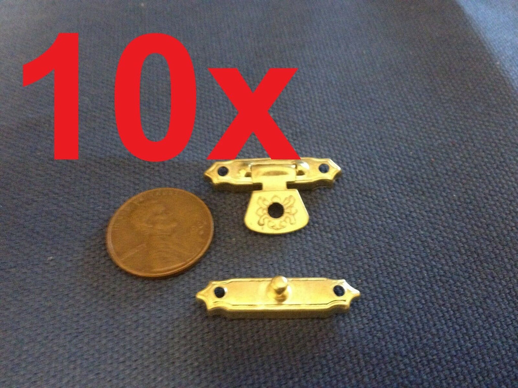 10 Sets - Chest Box Trunk Suitcase Trinket Tool Latch Clasp Chrome Toggle  b1