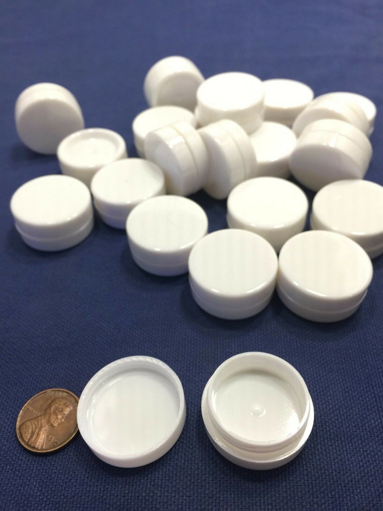 25x White  JAR cosmetic container 2g Small Round Bottle plastic storage B26