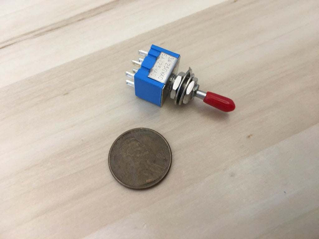 1 x RED Sleeve cap boot cap Blue On Off On Momentary Mini Toggle Switch 1/4 C8