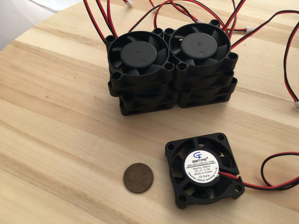 10 Pieces 5v 4010s Gdstime Computer 2pin 40x40x10mm DC Cooling Fan brushless C37
