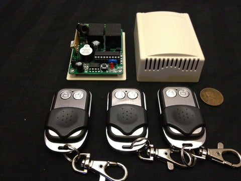 (3 remotes )   RF Wireless Electric Garage Gate Door Remote 2 Channel a5