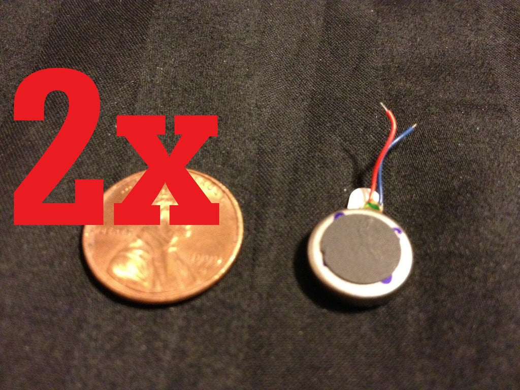 2x Voltage 3V Coin Vibration Micro Motor Flat Toy Cell Phone 12 mm x 3.4mm b18