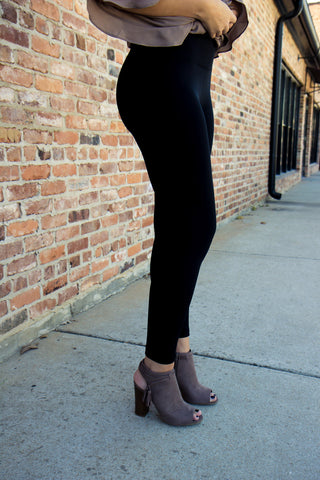 Back to Basics Burgundy Leggings
