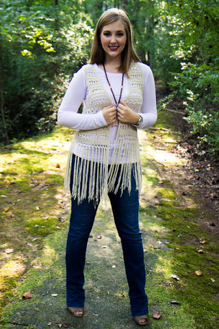 Desert Fringe Vest - Final Sale