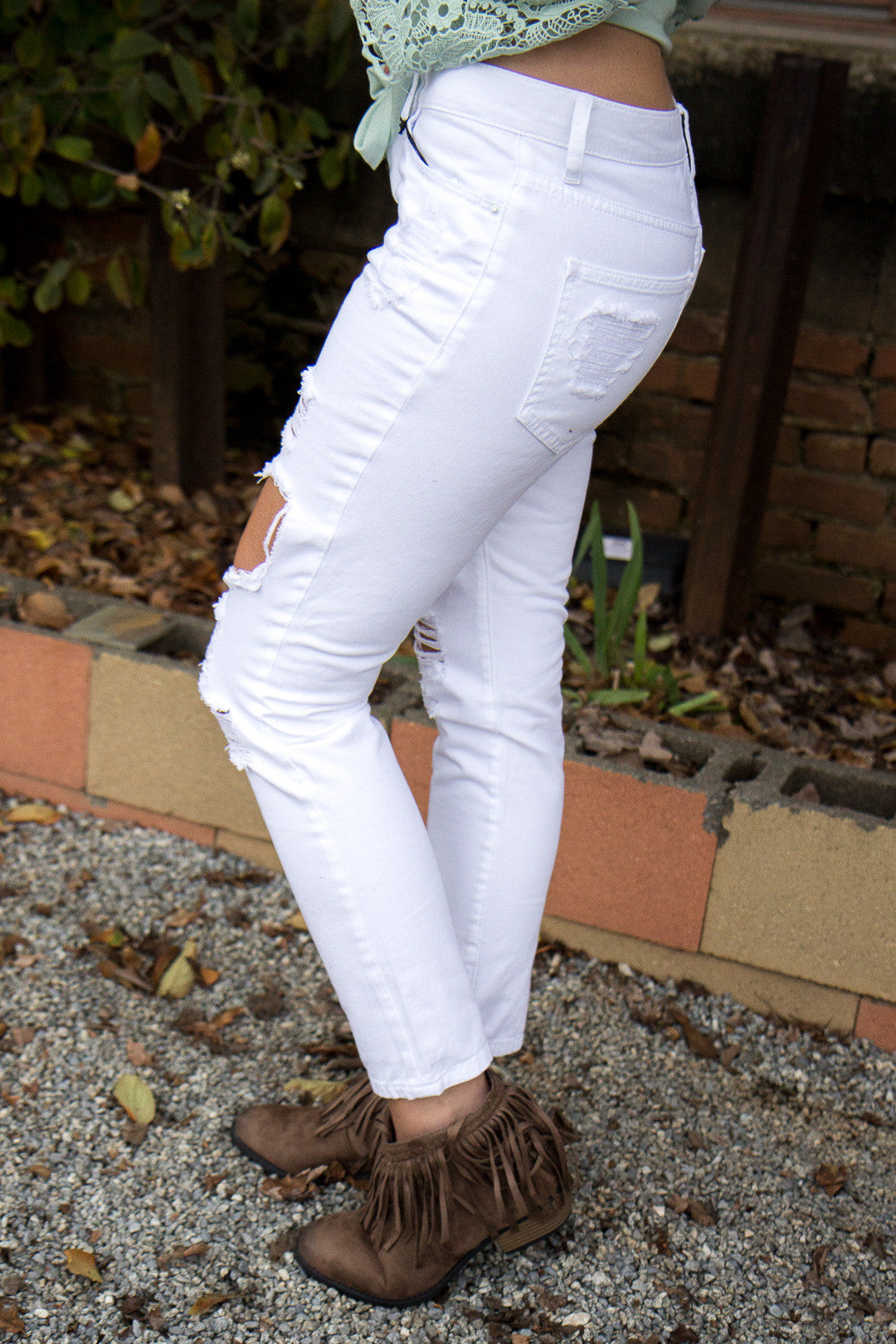 Favorite Ripped Jeans - White