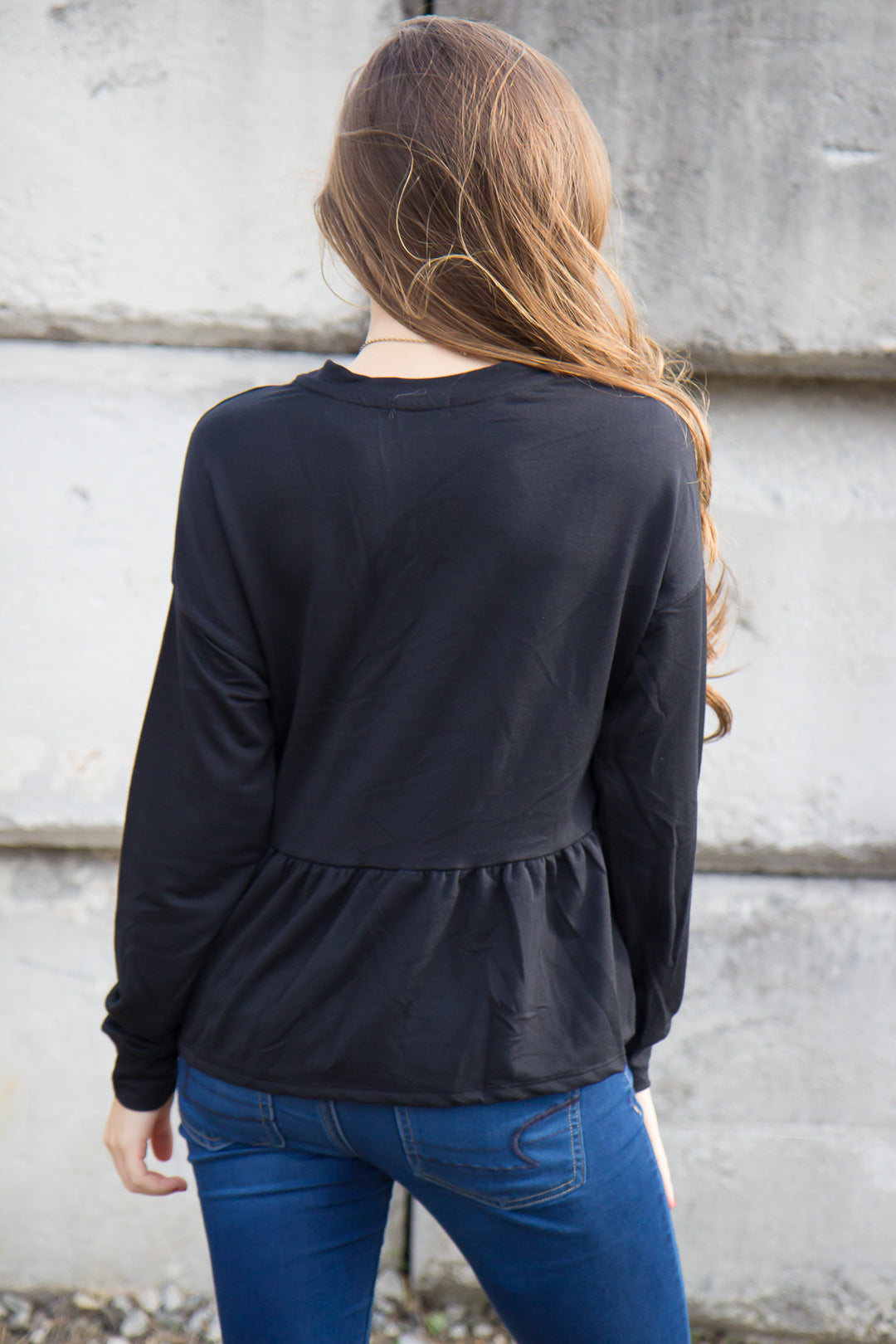 Frills & Thrills Top - Black - Final Sale