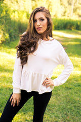 Frills & Thrills Top - White - Final Sale