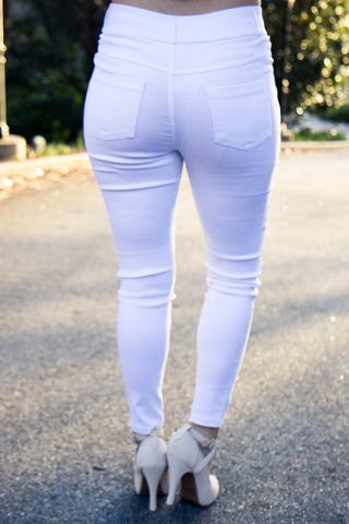The Illusion Jeggings - White