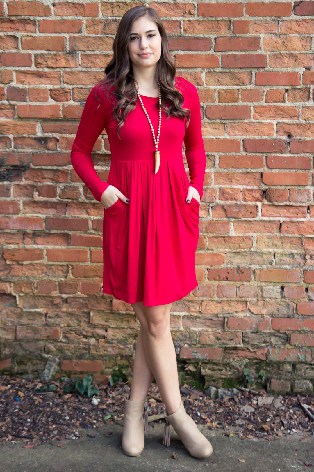 Let It Snow Dress - Red