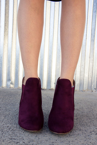 Let Loose Booties - Wine - Final Sale