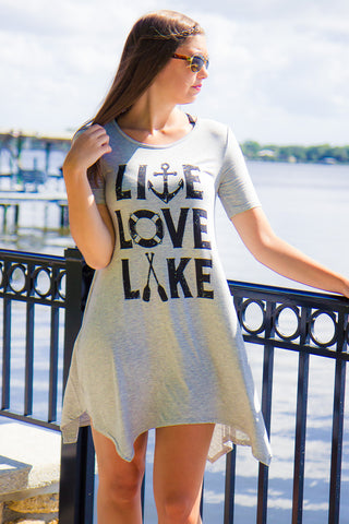 Live Love Lake T-Shirt Dress - Final Sale