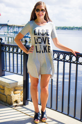 Live Love Lake T-Shirt Dress