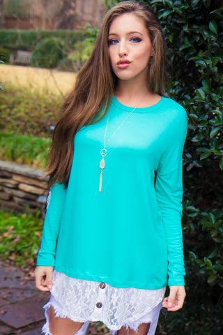 Looking Back Tunic - Mint
