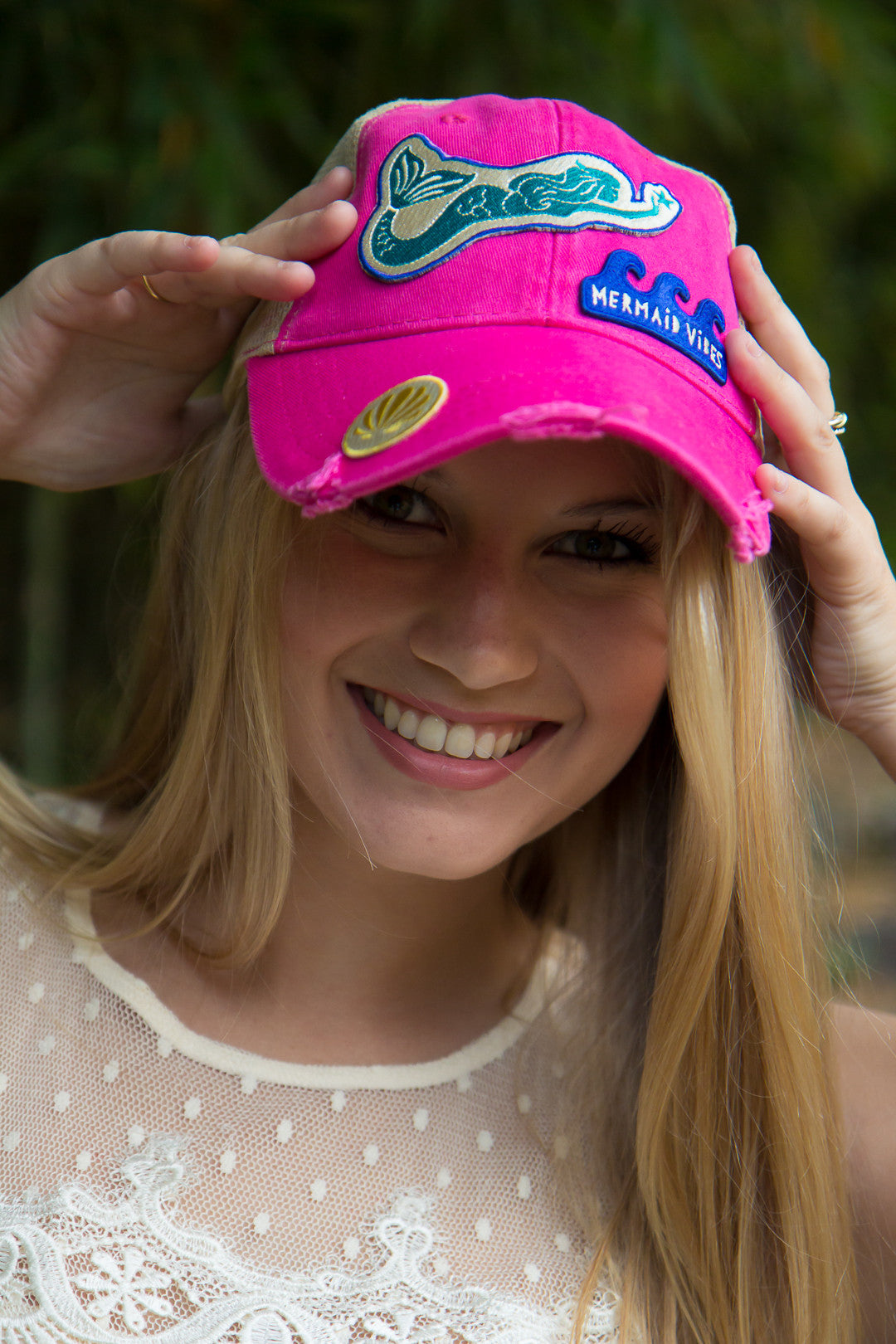 Mermaid Vibes Trucker Hat by Genevieve Gail - Final Sale