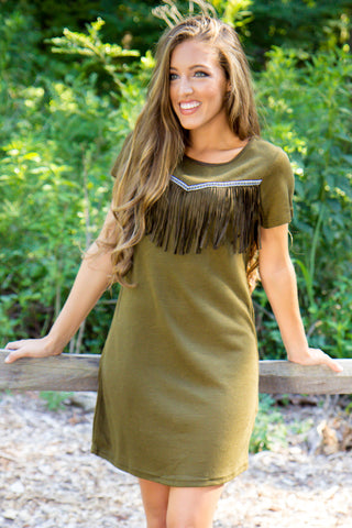 Mountain Retreat Dress - Olive