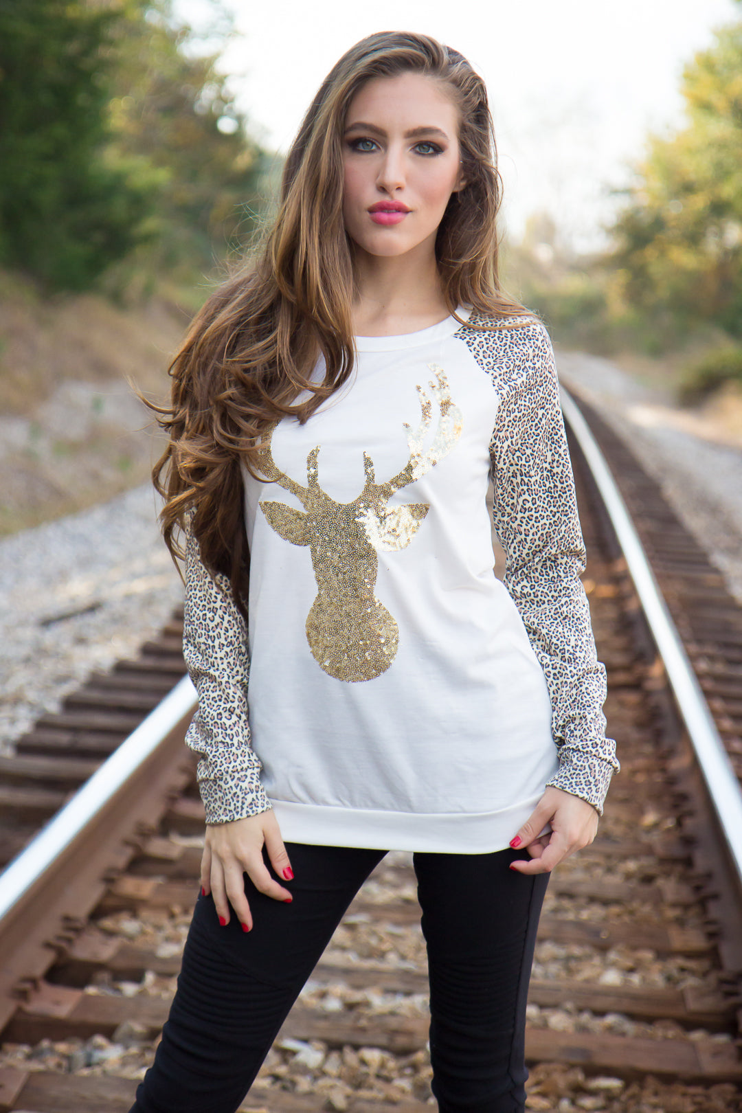 Oh Deer Top - Leopard - Final Sale