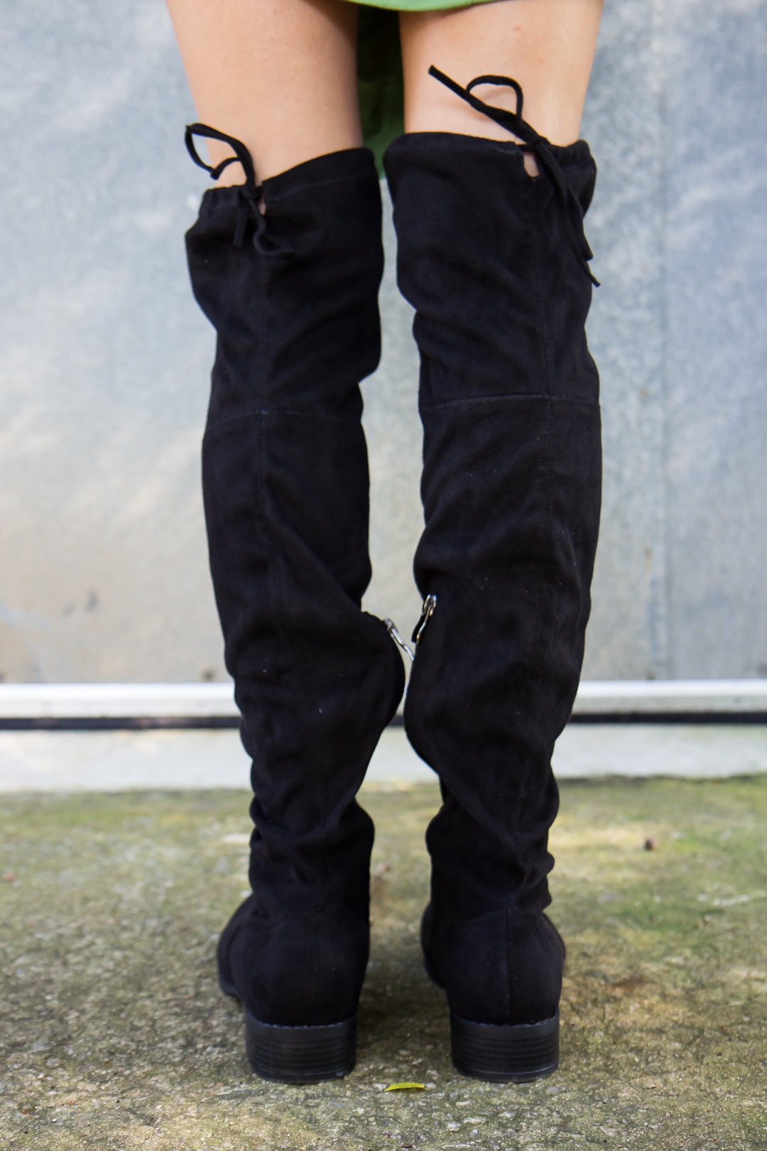 Over the Knee Boots - Black - Final Sale