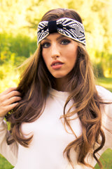 Black Pattern Winter Headband - Final Sale