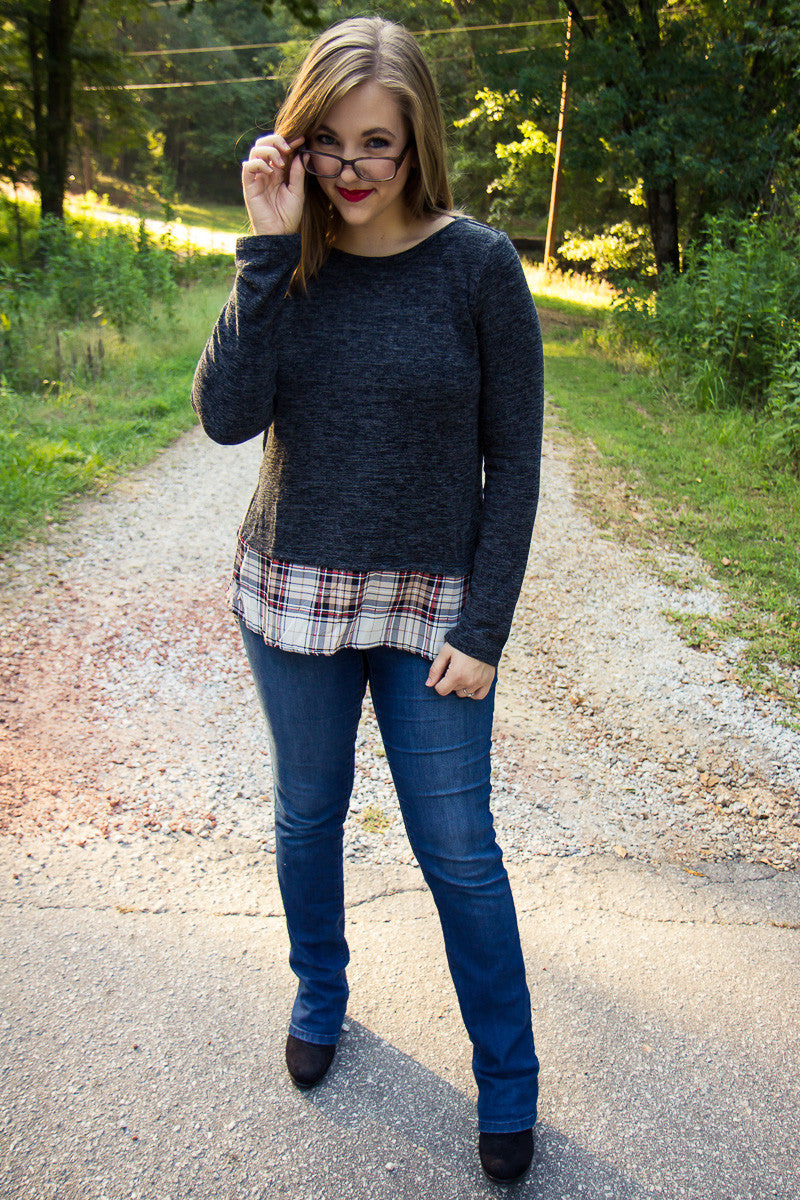 Plaid Intentions Sweater