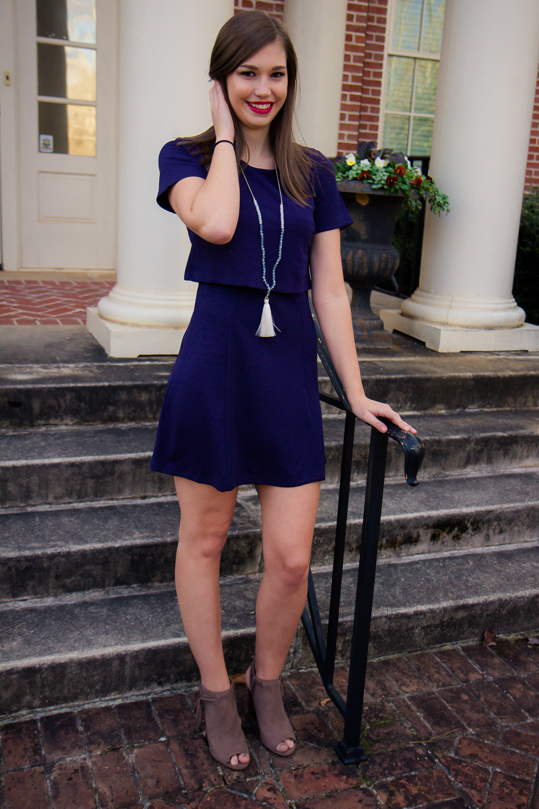 Prep It Up Dress - Navy