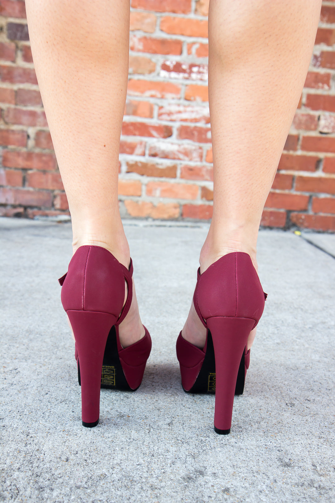 Sassy Heels - Burgundy - Final Sale