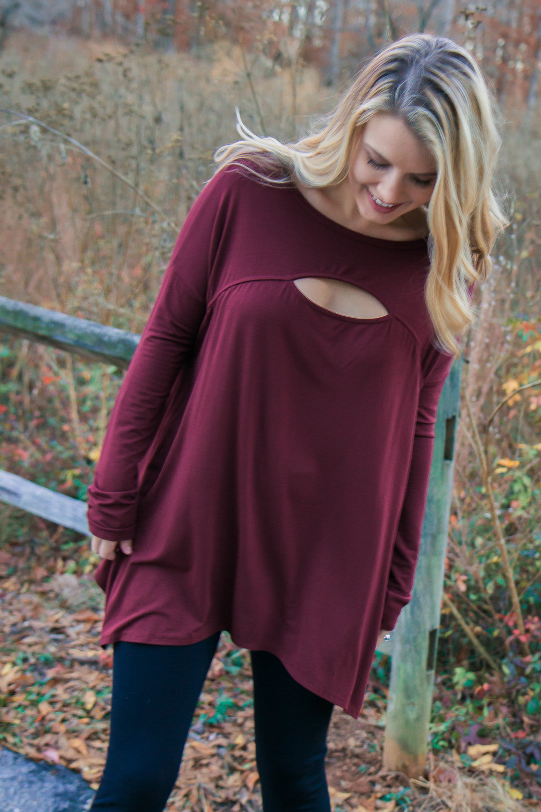 Sneak Peek Top - Burgundy
