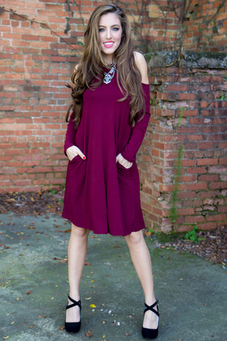 Winter Comfort Dress - Gray