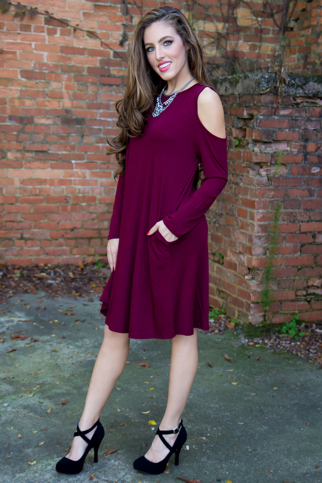 Stay Cool Dress - Burgundy - Final Sale