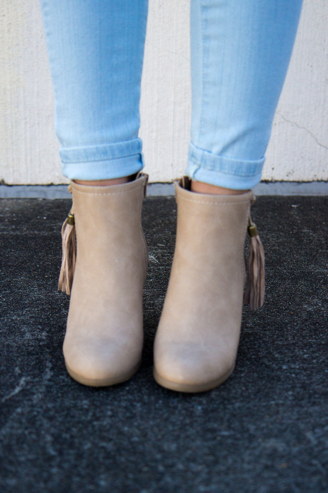 Swing In My Step Booties - Natural