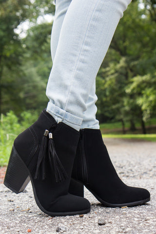 Swing In My Step Booties - Black