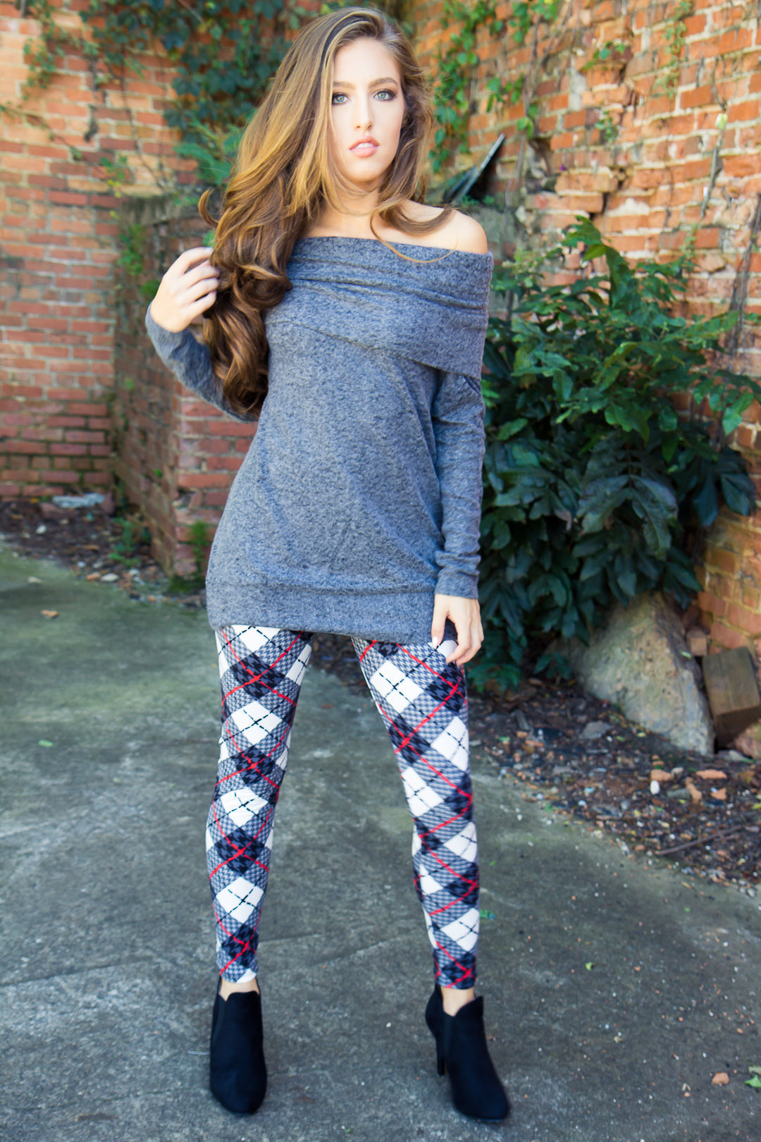 The One Plaid Leggings - Final Sale