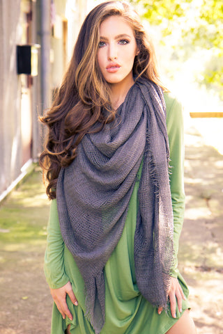 Blanket Scarf - Solid Gray