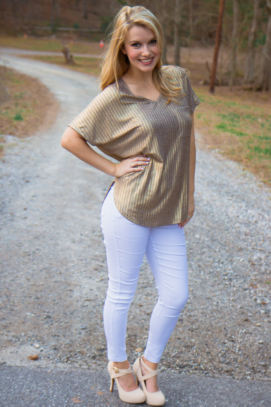 All Gold Everything Top - Final Sale