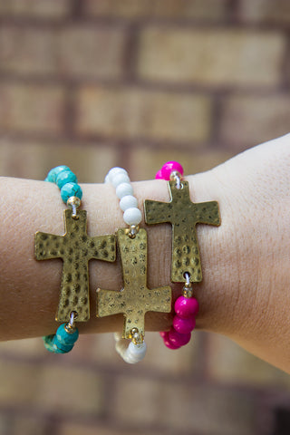 Cross My Heart Bracelet - Final Sale