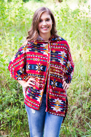 Crisp Mornings Poncho - Final Sale