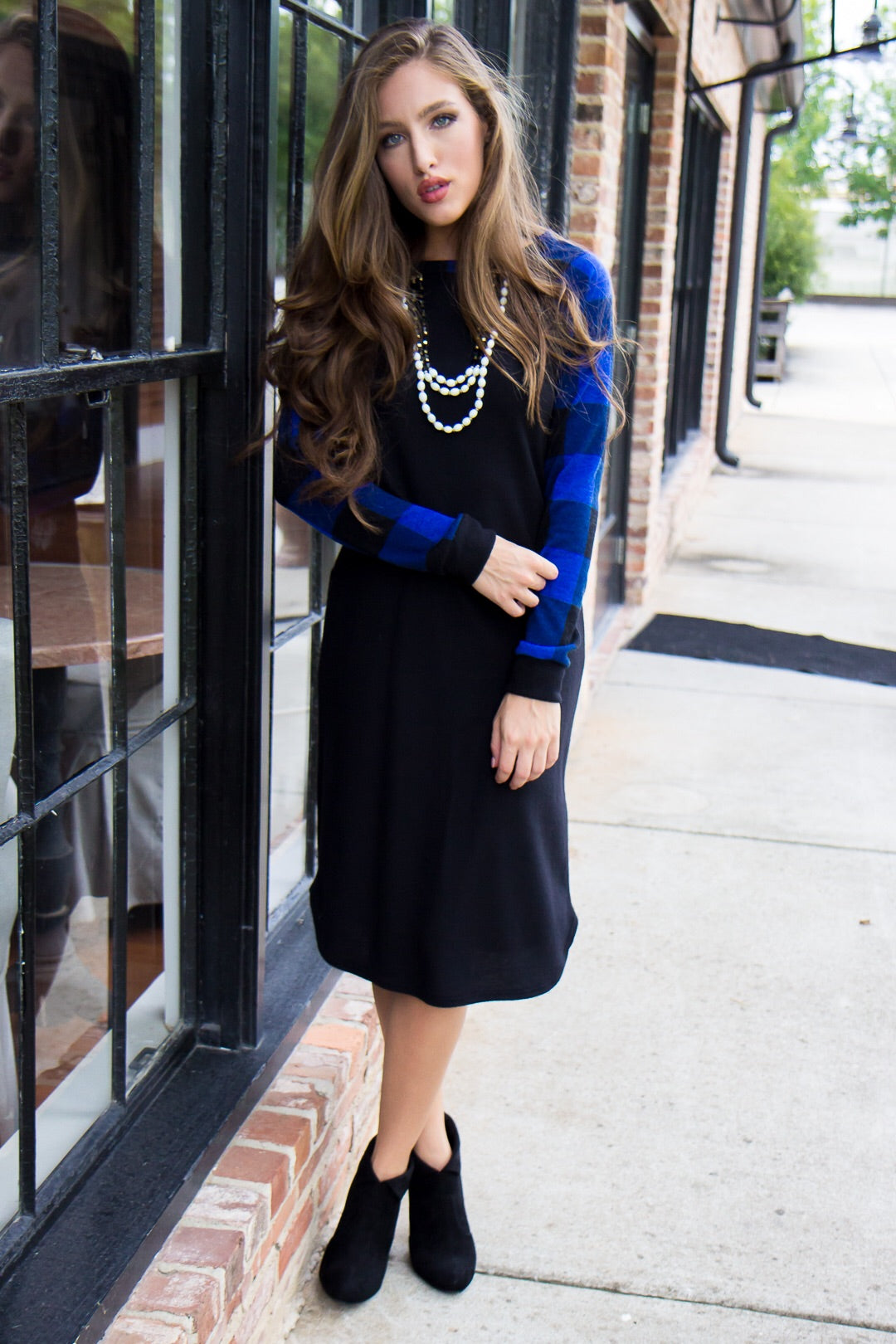 Feeling Blue Sweater Dress - Final Sale